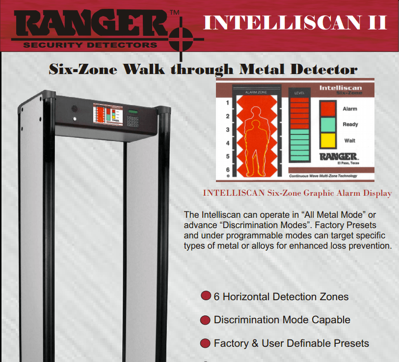 ranger intelliscan 6
